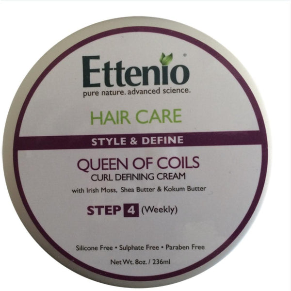 Ettenio Queen of Coils Curl Defining Creme - Exotic Hair Products