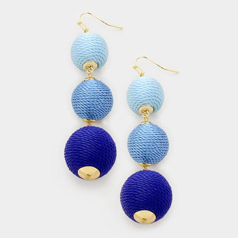 Blue Bauble Earrings