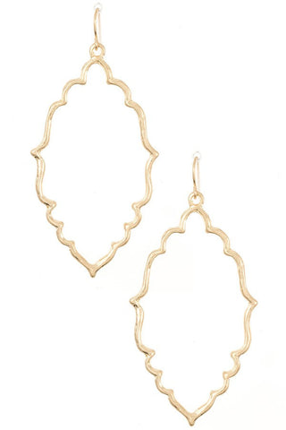 Gold Oval Shaped Earrings