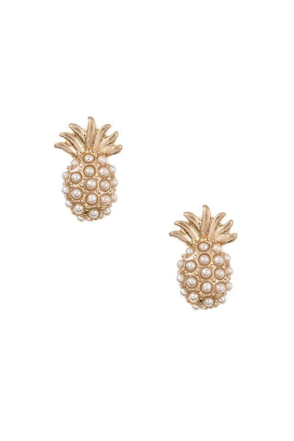 Pearl Pineapple Studs