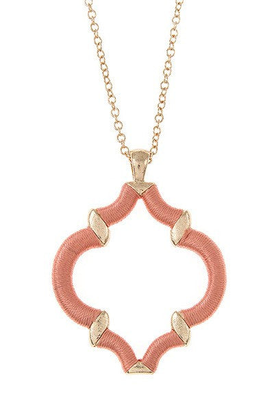 peach colored necklace