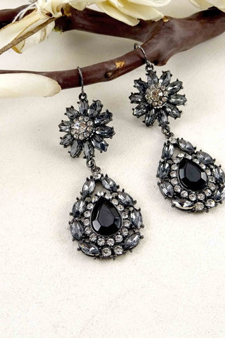 Black Rhinestone Earrings