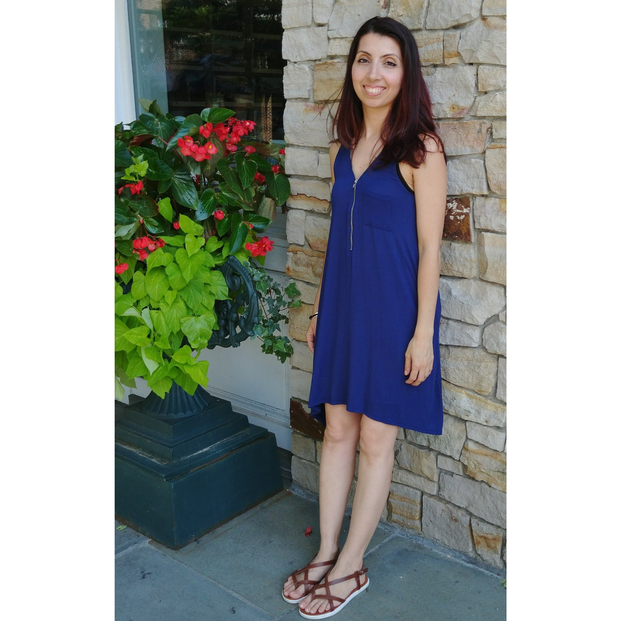 Catie -  Royal Blue Dress