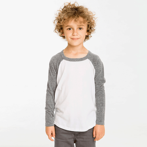 Boys Cotton Jersey Raglan Baseball Tee