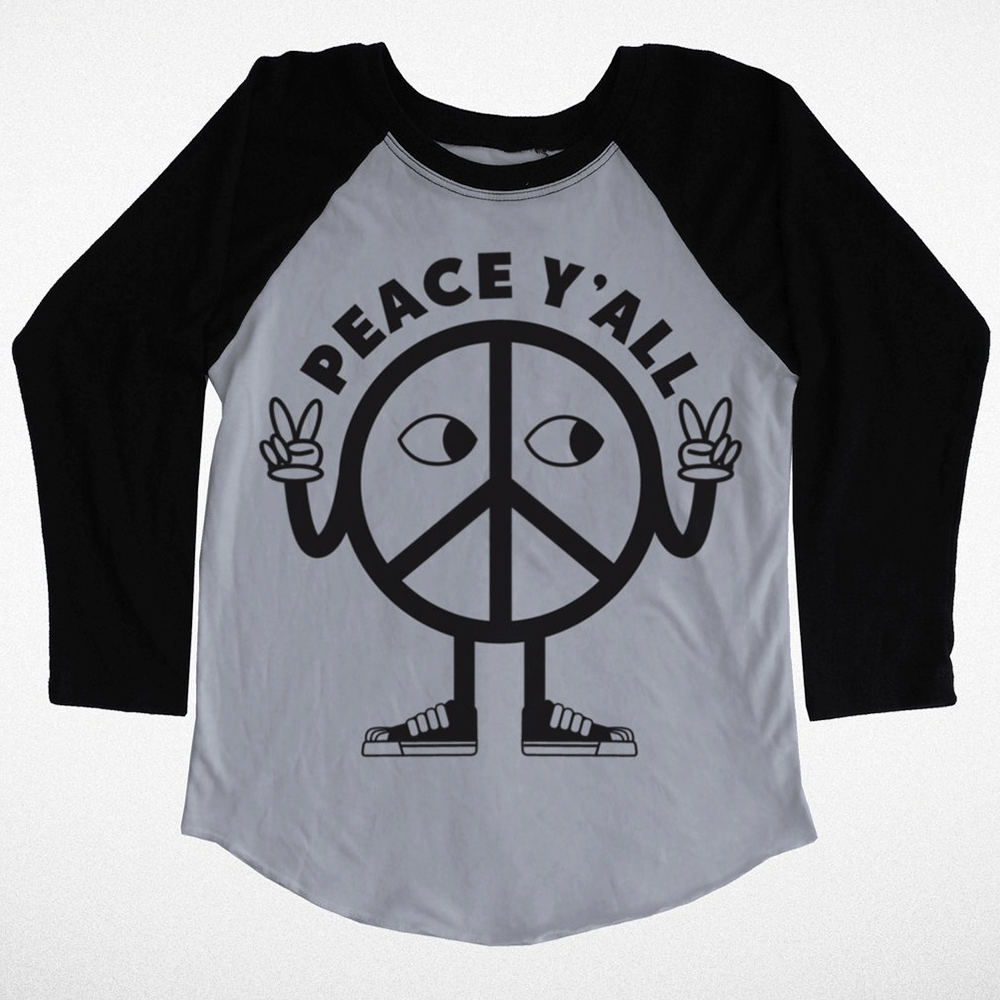 Peace Y'all Raglan Tee
