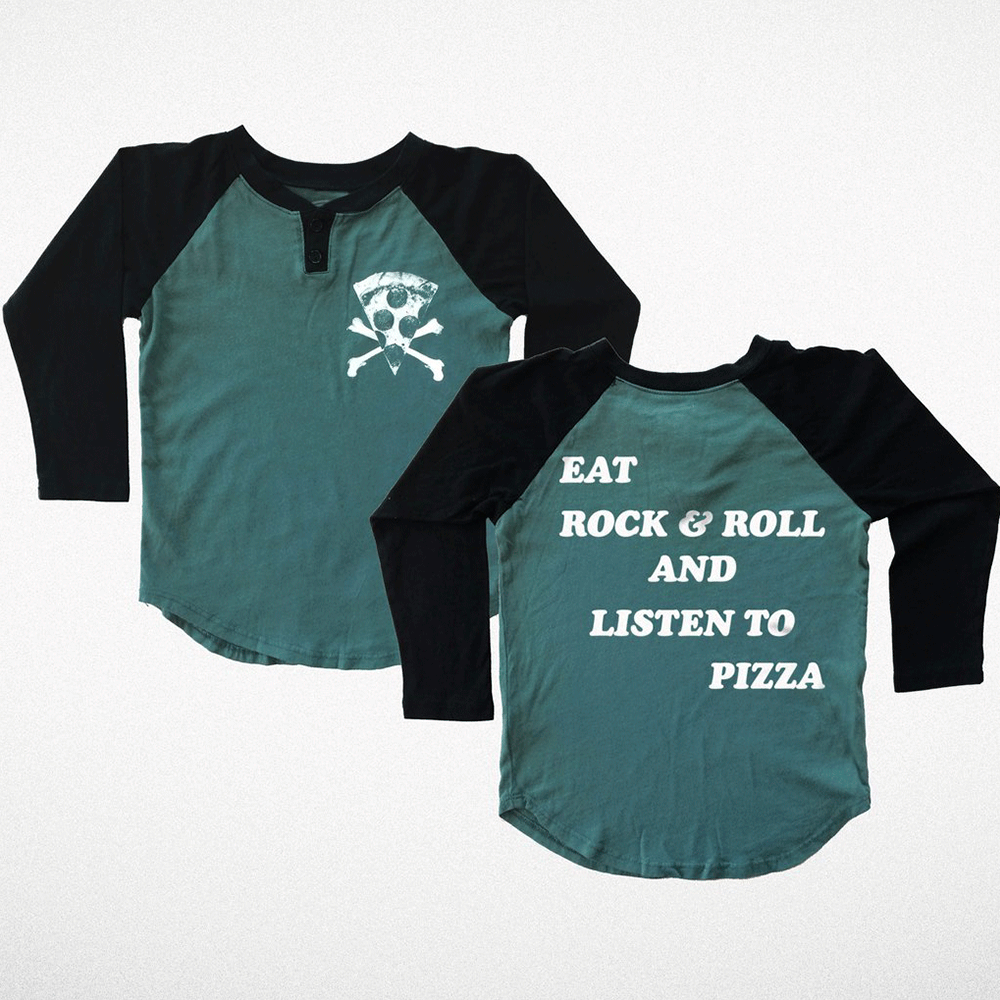 Eat Rock & Roll Raglan Tee
