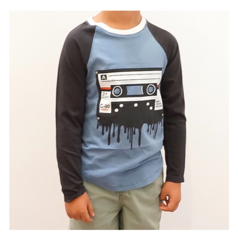 Cassette Boys Long Sleeve Raglan