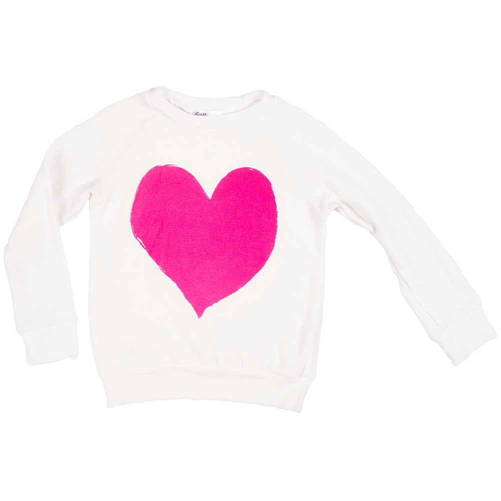 Aries Heart Print Faux Cashmere Pullover