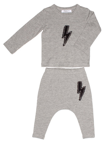 Canon Bolt Baby Set in Heather Grey