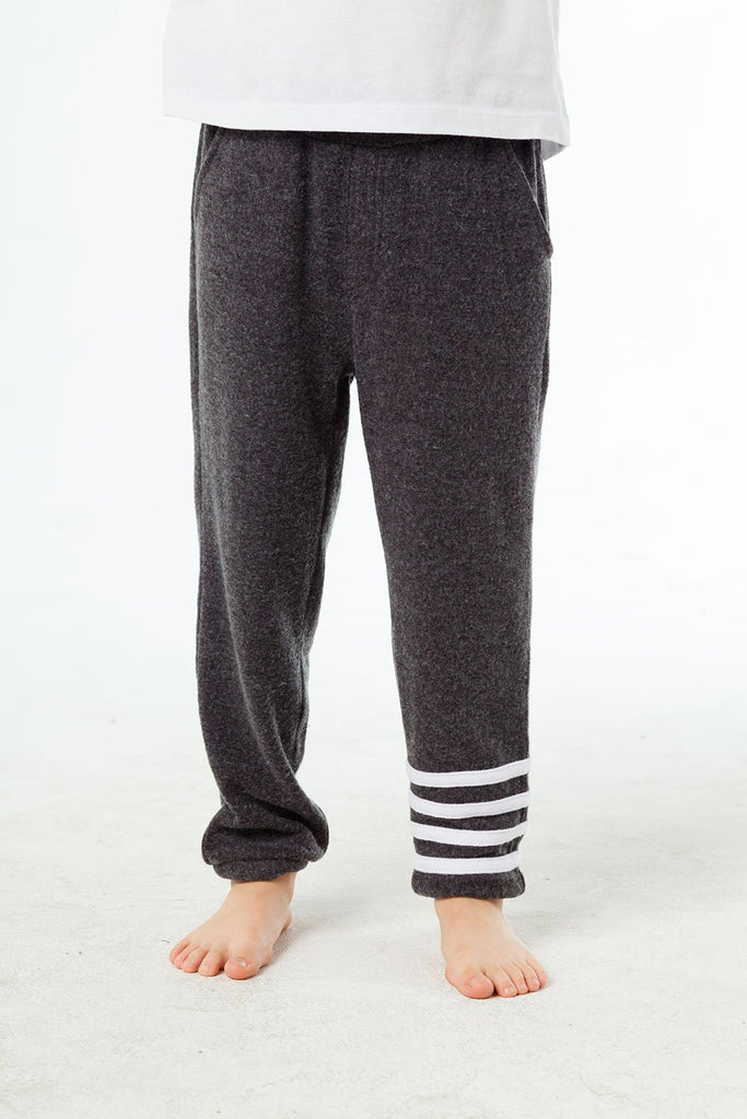 Boys Cozy Knit Joggers with Strappings