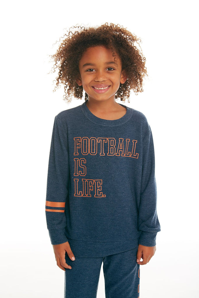 Football Life Cozy Knit Pullover