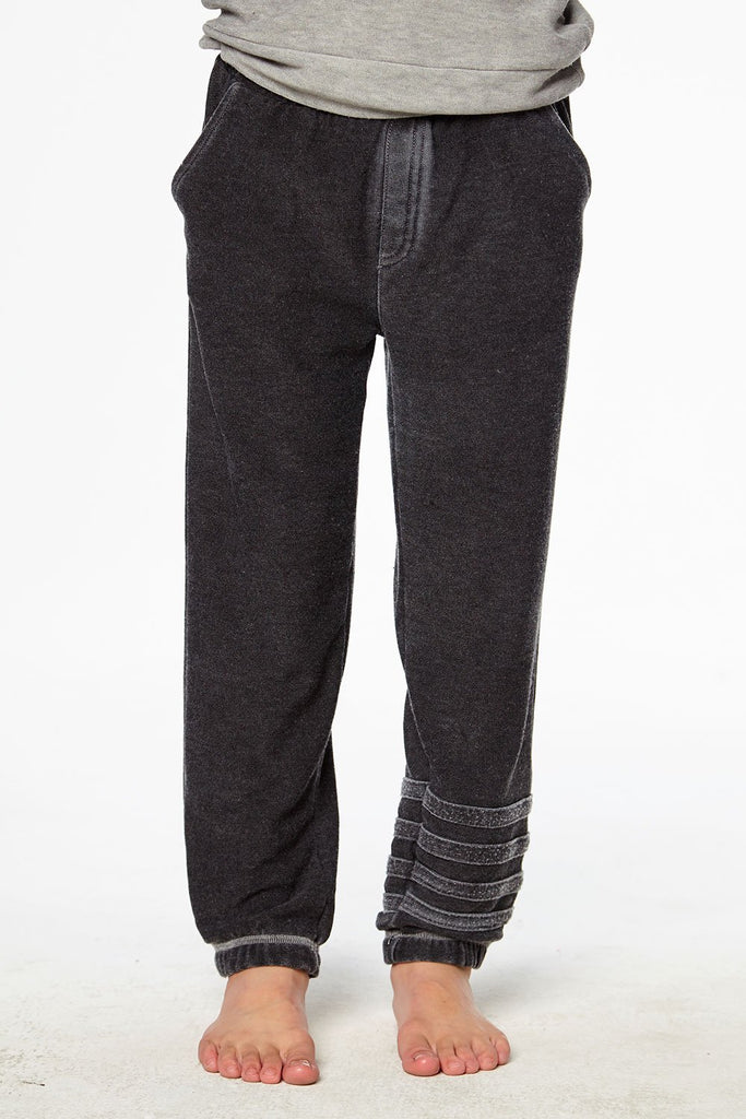 Cozy Knit Joggers with Strappings