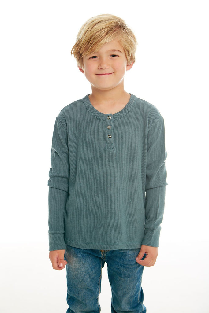 Boys Thermal Long Sleeve Henley