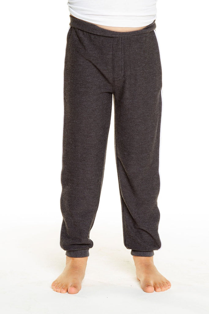 Boys Cozy Knit Contrast Piping Lounge Pant