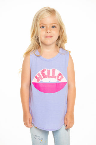 Hello Lips Muscle Tank