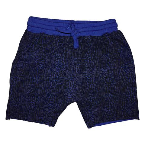Alligator Print Harem Short in Electric