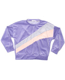 Evans Purple Velour Sweatshirt