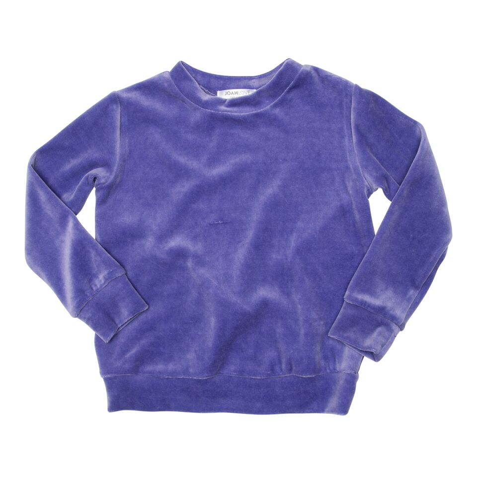 Purple Velour Top with Crossback detail
