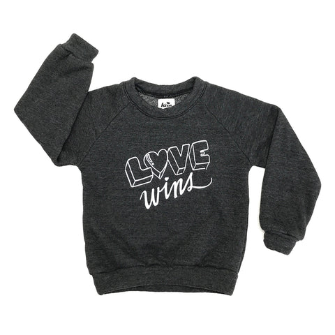 Love Wins Graphic Raglan Sweatshirt