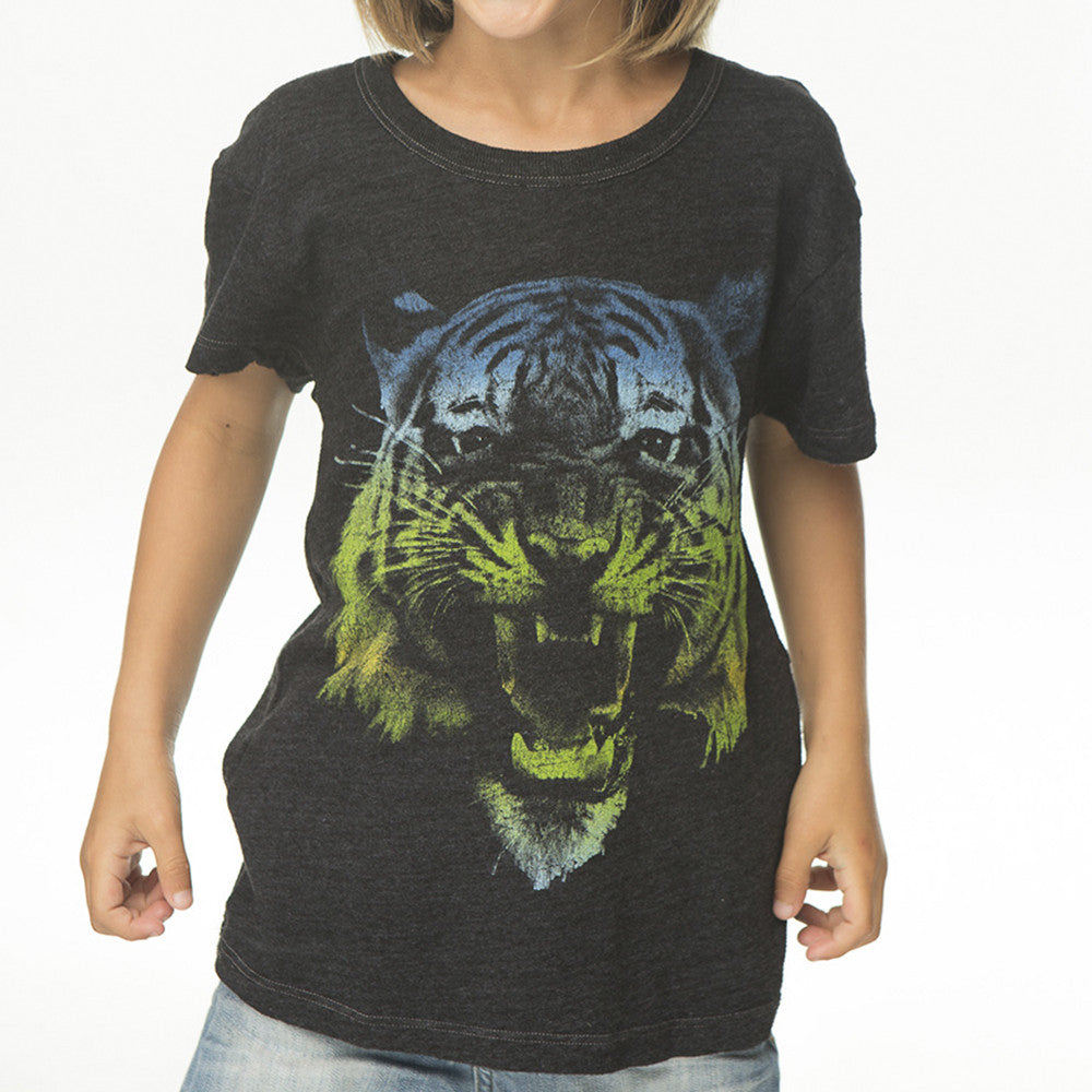 Ombre Tiger Boys Crew Neck Tee