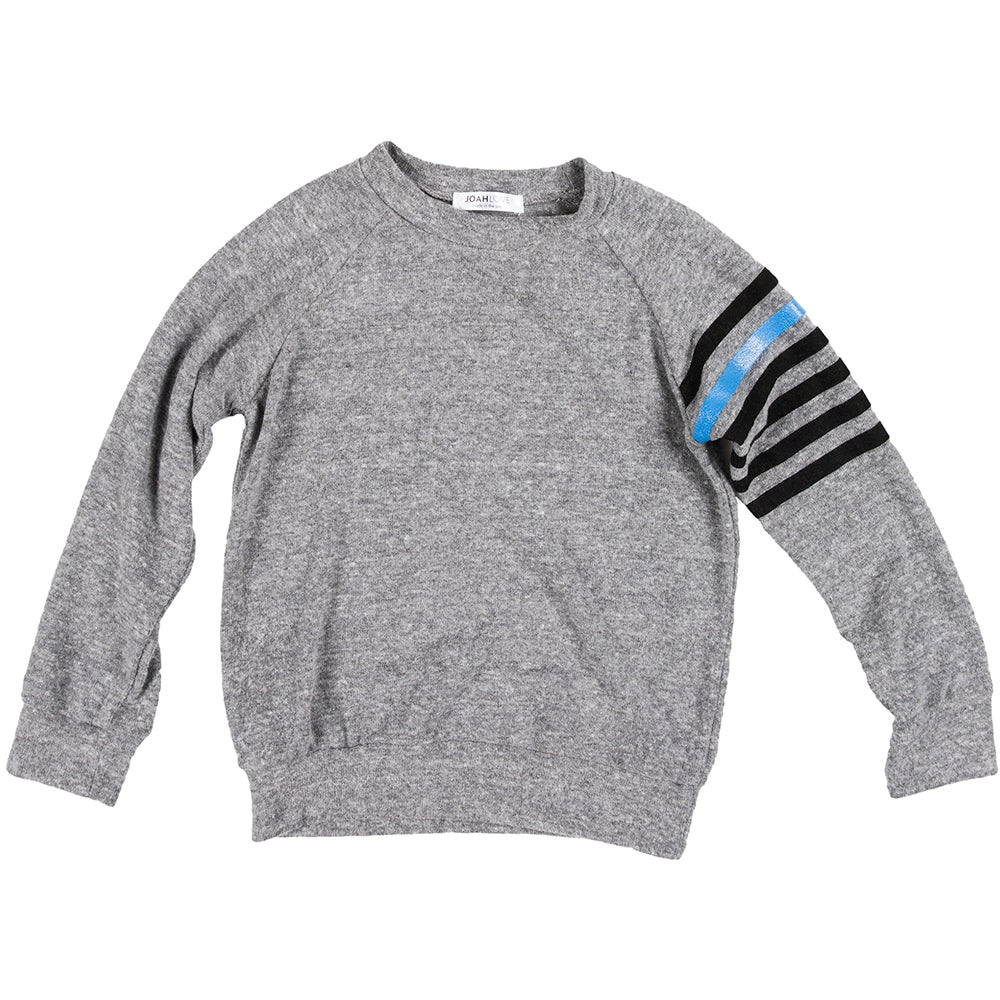 Penn Stripe Sleeve Faux Cashmere Pullover
