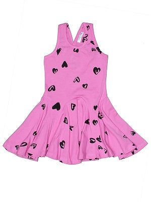 Rue Heart Print Twirl Dress