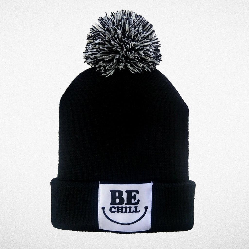 """Be Chill"" Pom Pom Beanie"