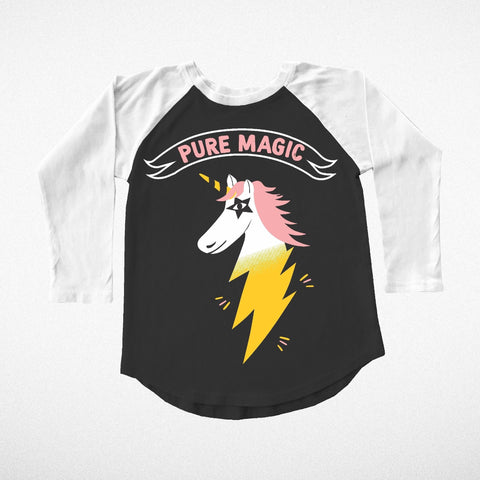 """Pure Magic"" Unicorn Long Sleeve Raglan"
