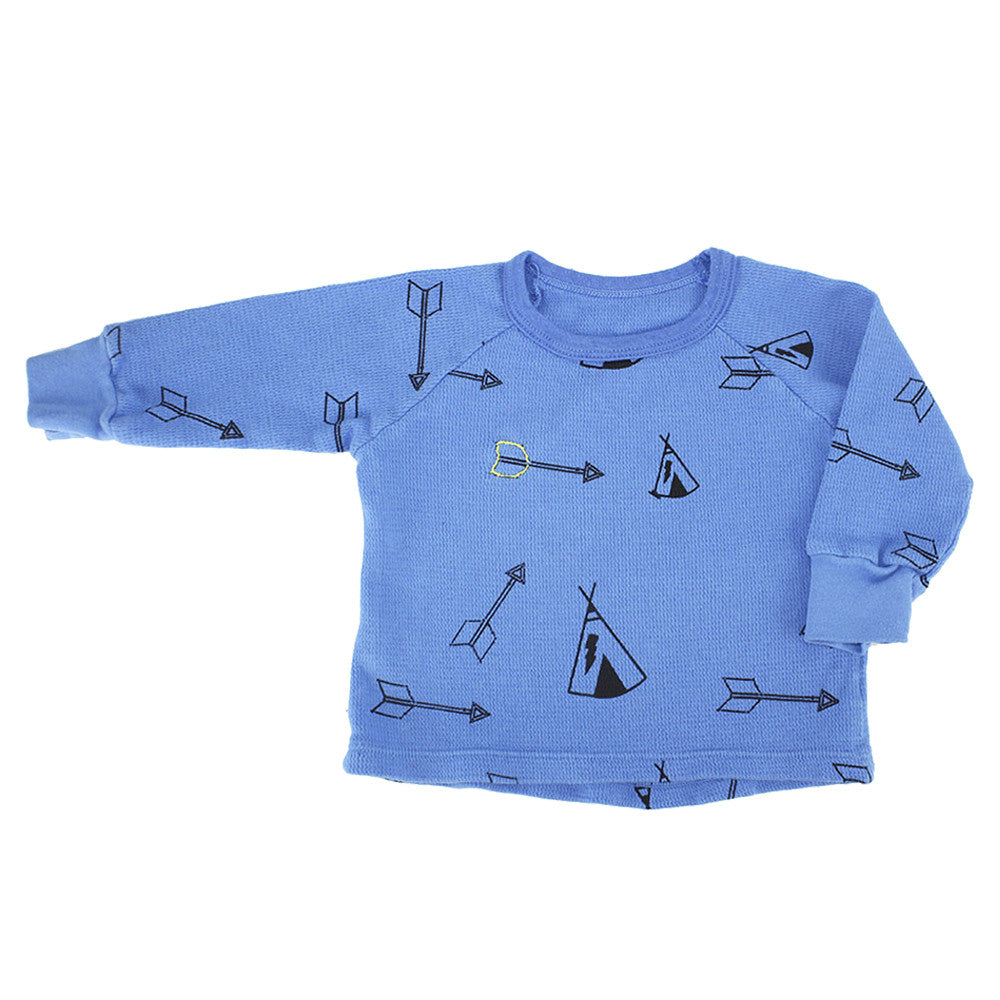 Teepee & Arrows Print Thermal Shirt