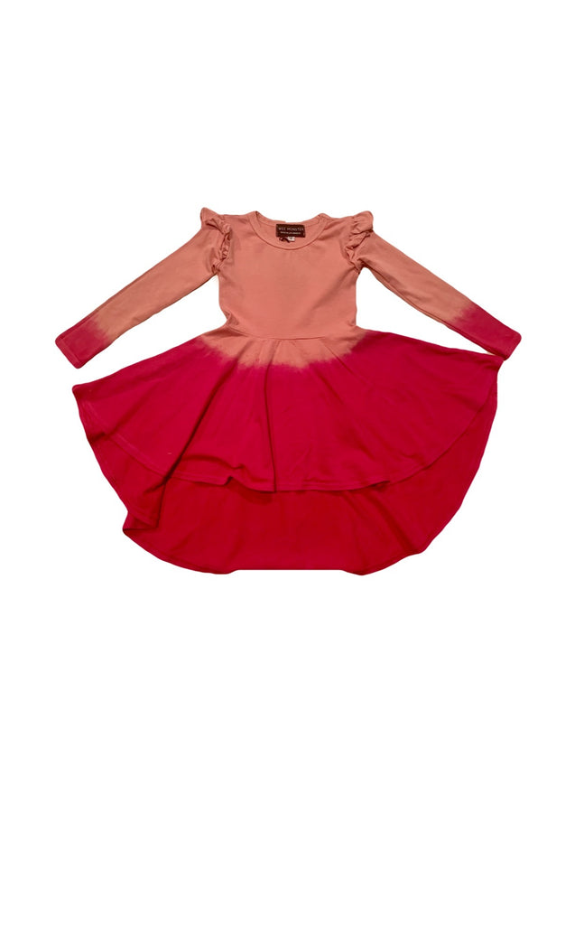 Rose Ombre Circle Dress