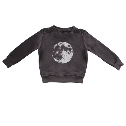 Charcoal Moon Print Sweatshirt
