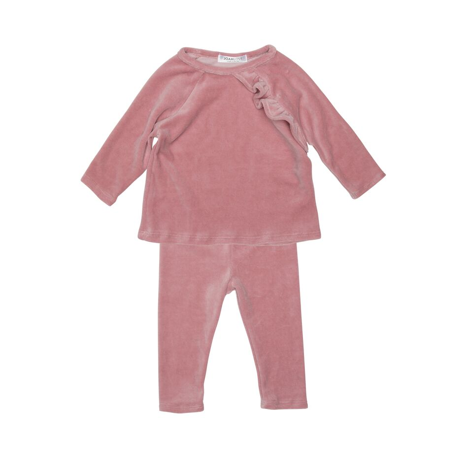 Lulu Strech Velour One Ruffle Set
