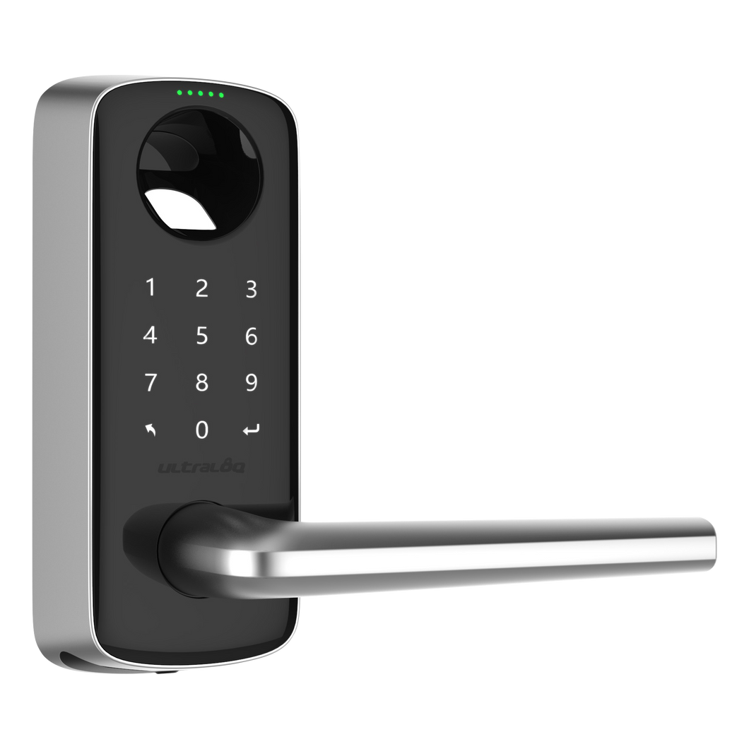 Ultraloq Lever Bluetooth Enabled Fingerprint and Touchscreen Smart Lever Lock
