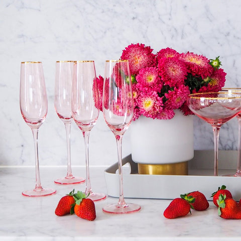 Crystal Pink Glassware