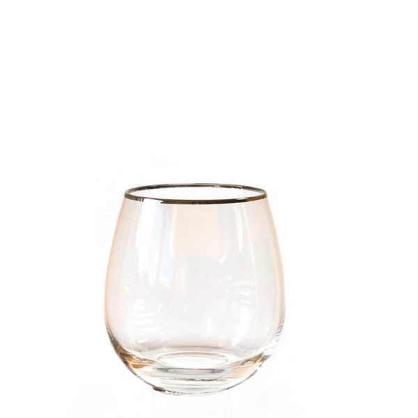 Crystal Tumbler - Clear Silver rim **Imperfect - the source