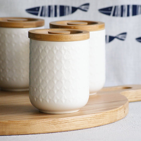 Geometric ceramic canister - the source - 2
