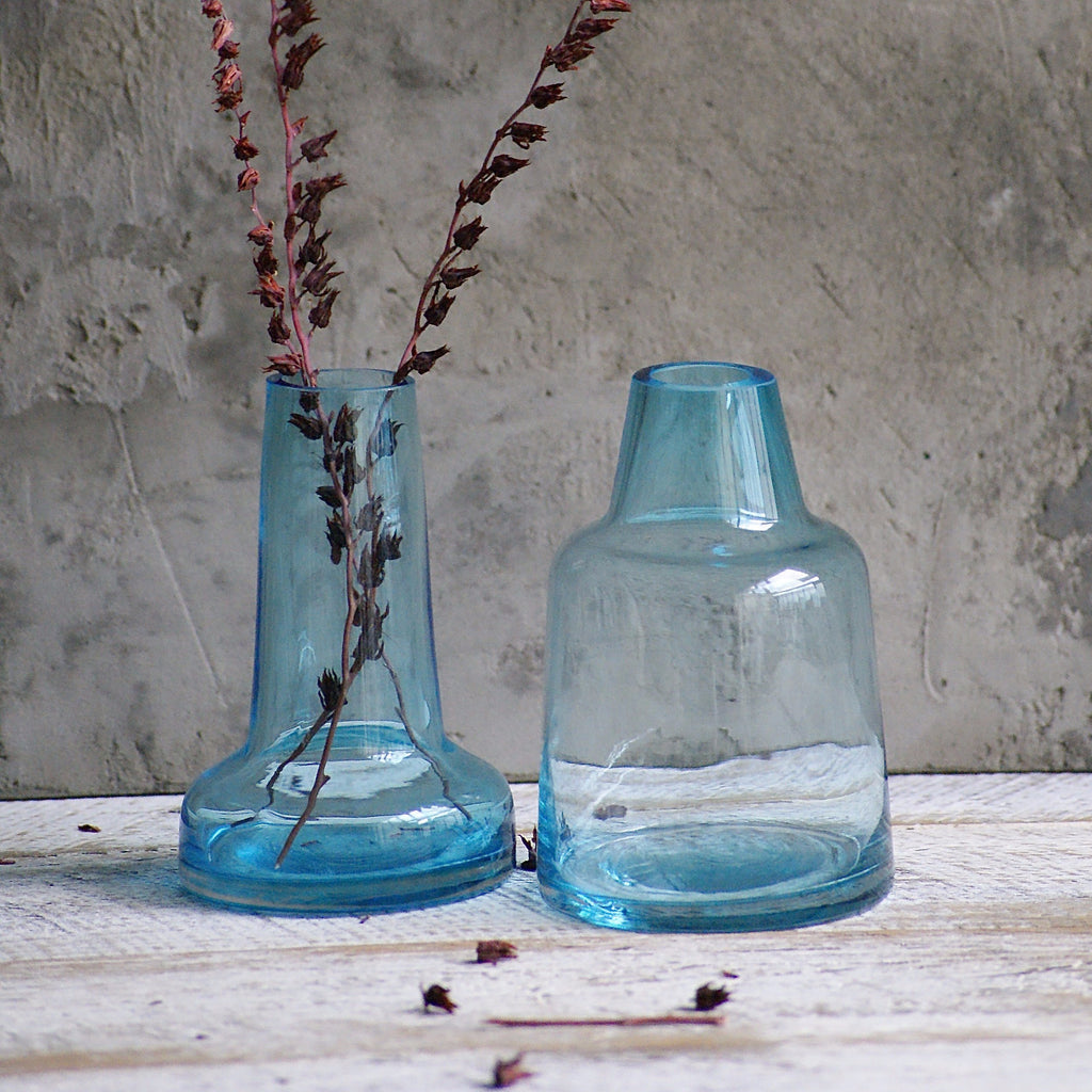 Bottle Vase - Blue **Imperfect - the source
