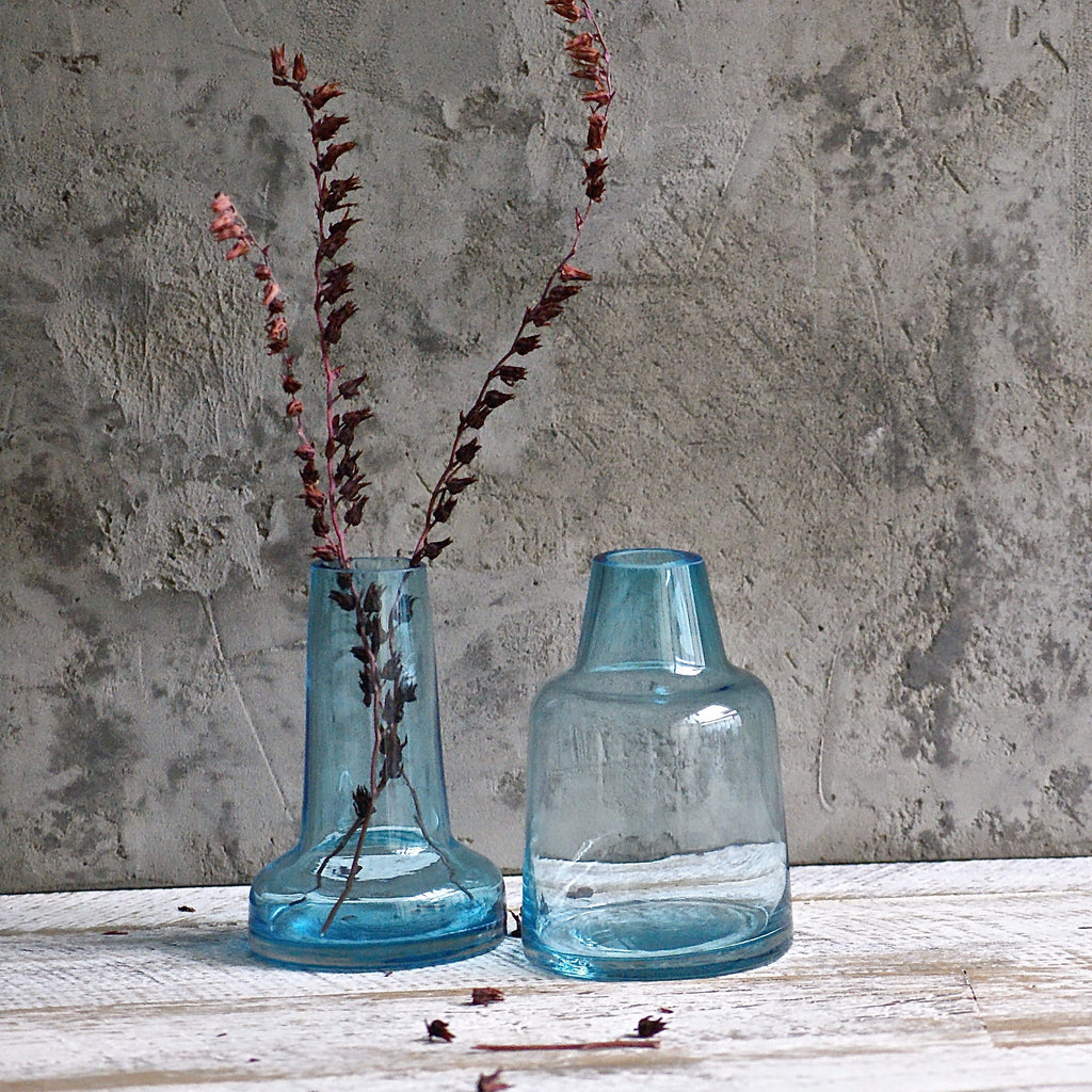Cone Vase - Blue **Imperfect - the source