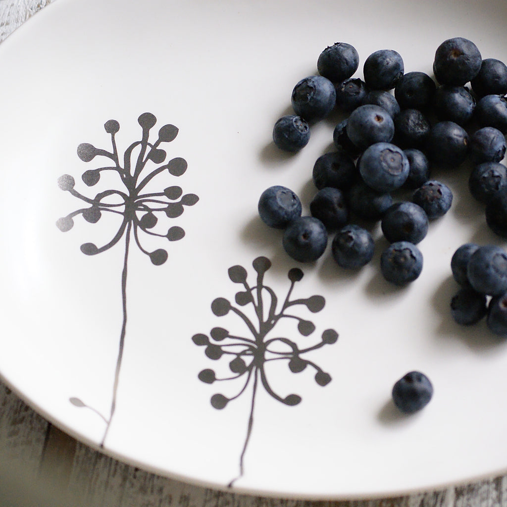 Botanical Oval Plate - Dandelion L - the source