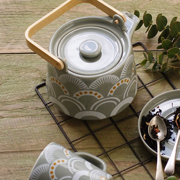Vintage Pattern Teapot - Mist - the source