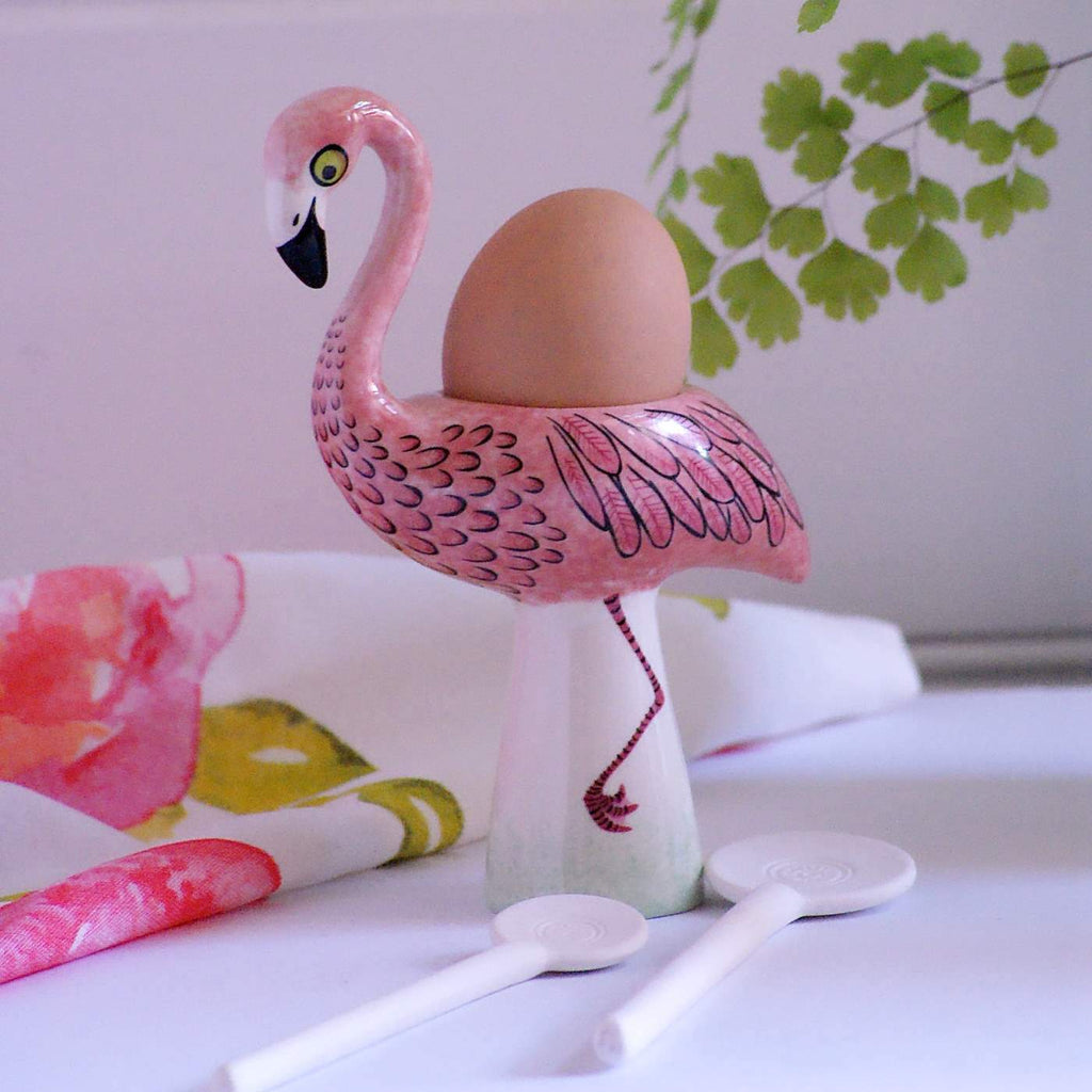 Egg cup Flamingo - the source