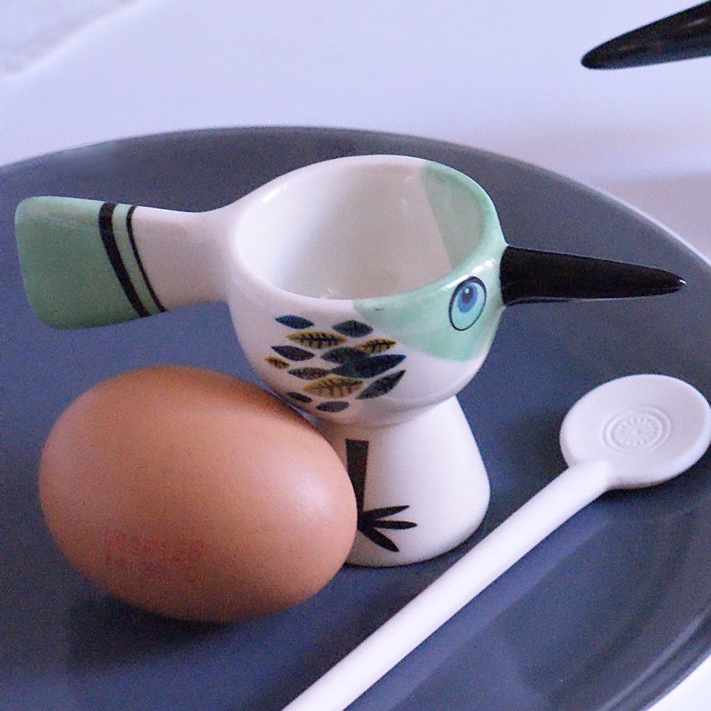 Egg Cup Bird - Green **Imperfect - the source