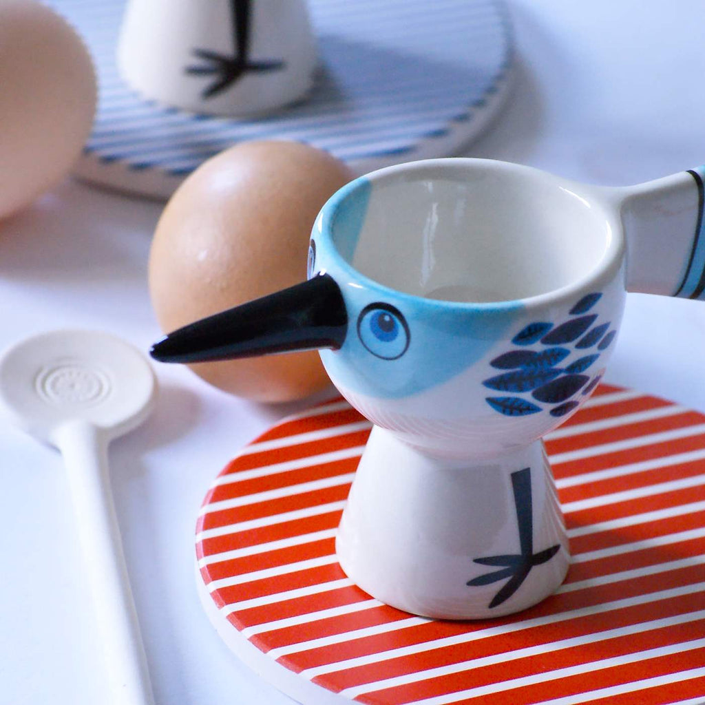 Egg Cup Bird - Blue **Imperfect - the source