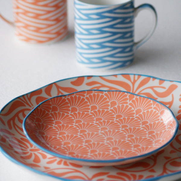 Hida Serving Plate Orange - the source
