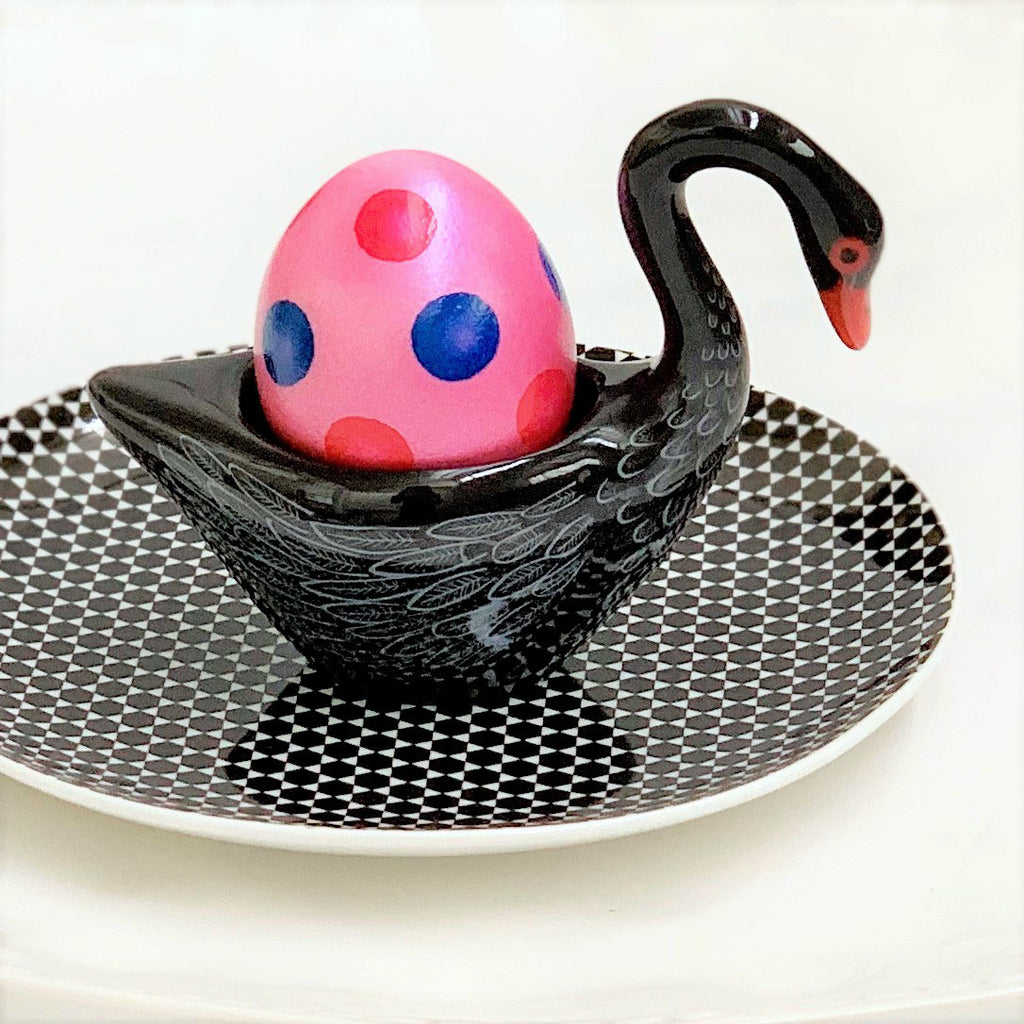 Egg Cup Swan - Black - the source