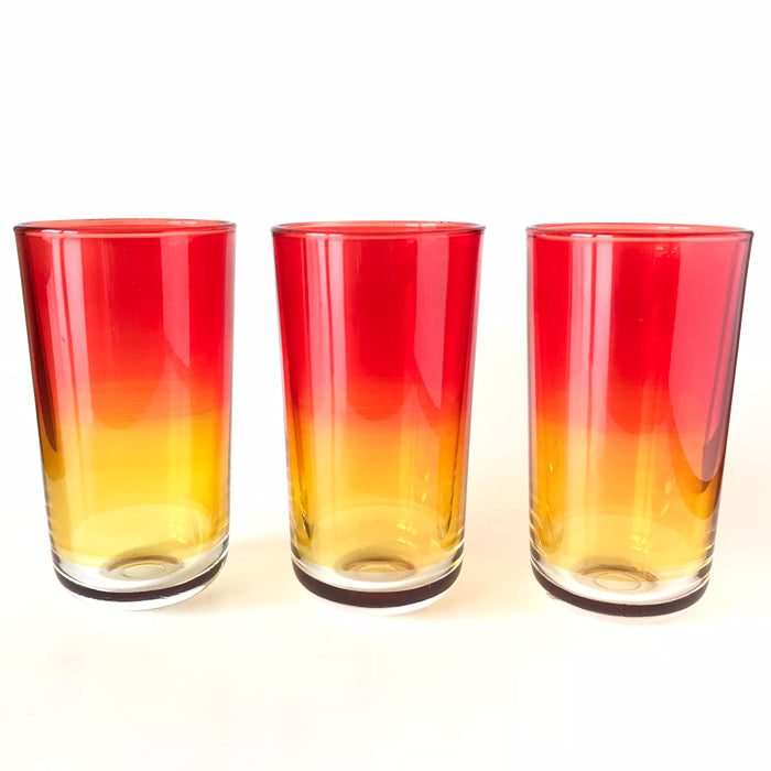 Clio tall glass set3 red/orange - the source
