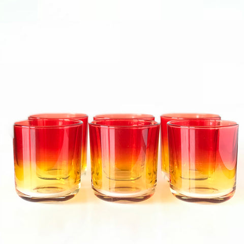 Clio short glass set6 red/orange - the source