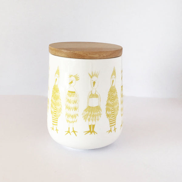 Chicken Run Canister - Amber Tall - the source