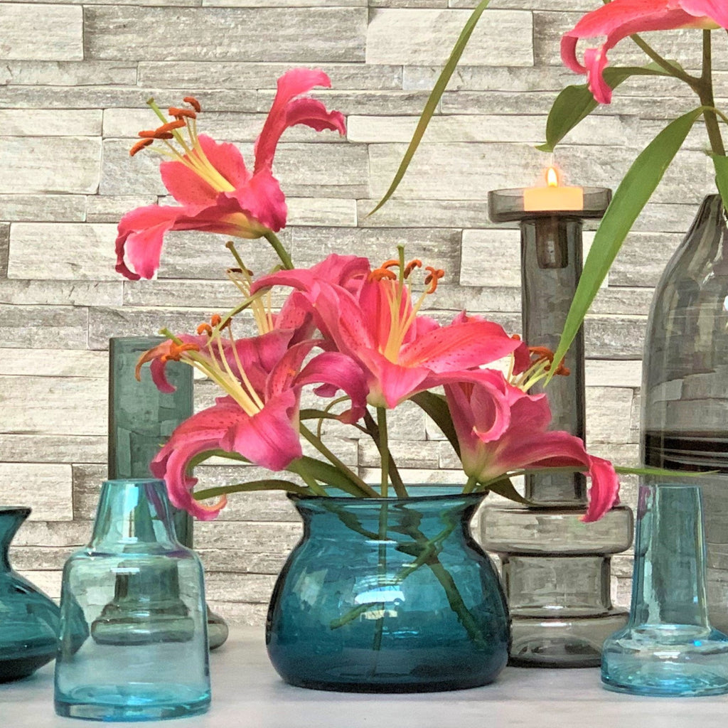 Posy Vase - Teal - the source