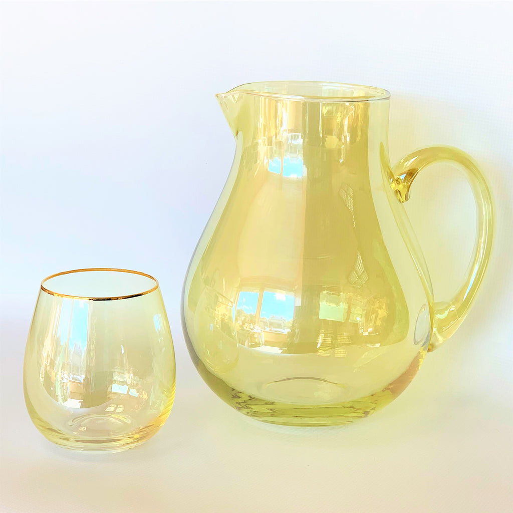 Lustre Jug - Yellow **Imperfect - the source